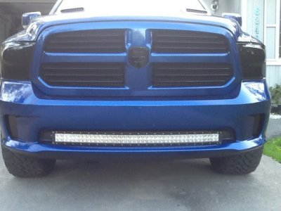 Installed 42 curved led light bar in 2014 sport bumper dodge ram imageg aloadofball
